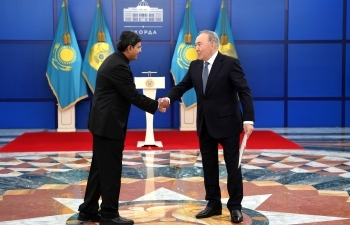 Ambassador Presents Letter of Credence to President Mr. Nursultan Nazarbayev