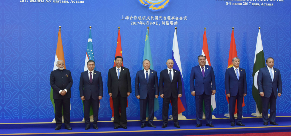 Leaders of SCO Member States at the SCO Summit in Astana on 9th June, 2017