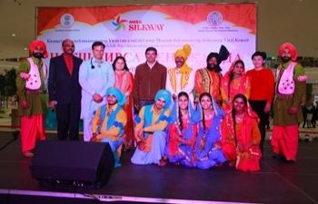 """Indian folk dance group """"Naksh Virsa Punjab Da"""" performs in Kazakhstan"""
