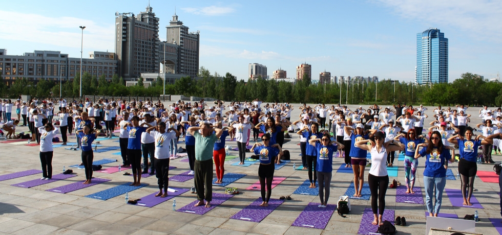 Celebration of 4th International Day of Yoga in Astana on 24th June, 2018