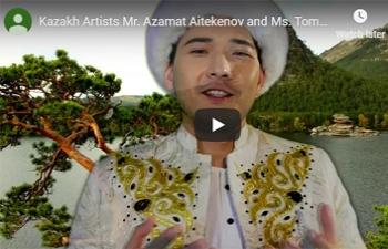 """Mahatma Gandhiji's favourite bhajan """"Vaishnav Jan To Tene Kahiye"""" sung by Kazakh Artists Mr. Azamat Aitekenov and Ms. Tomiris Yermolina."""