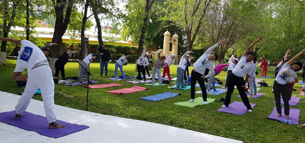 Week long celebrations of 5th International Day of Yoga started in Nur-Sultan on 15.06.2019