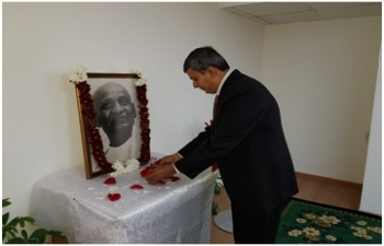 "Solemnization of pledge on ""Rashtriya Ekta Diwas"" in the Embassy"