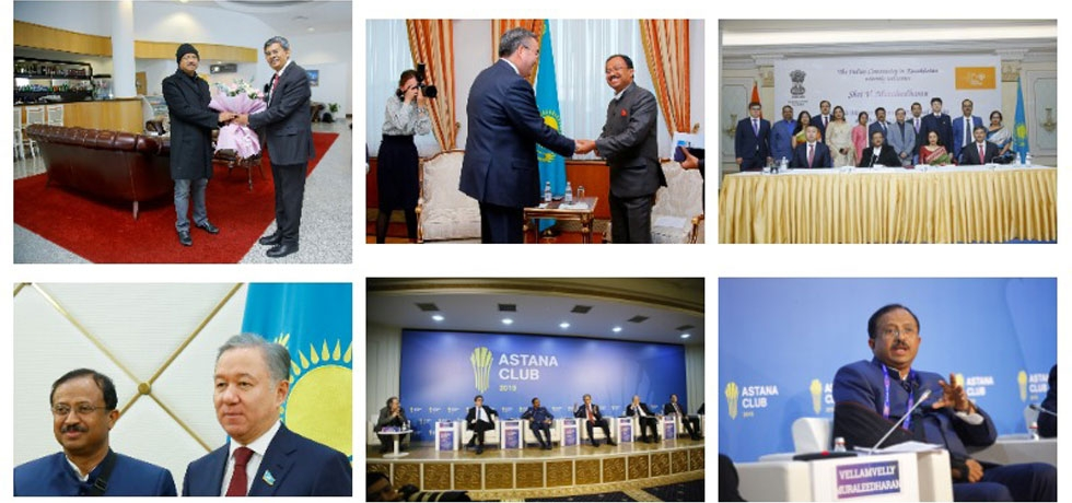 Visit of Hon'ble Minister of State for External Affairs and Minister of State for Parliamentary Affairs Shri V. Murleedharan to Nur-Sultan(11-12 Nov. 2019)