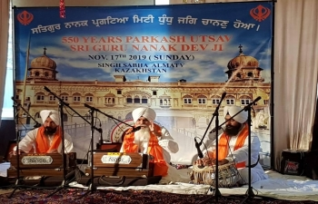 Celebration of 550th Guru Purab of Guru Nanak Dev ji at Almaty on 17 November 2019