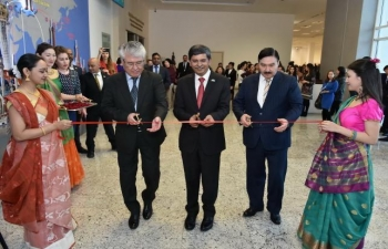 """Exhibition """"INDIAN SARI: A Timeless Elegance"""" organised by Embassy."""