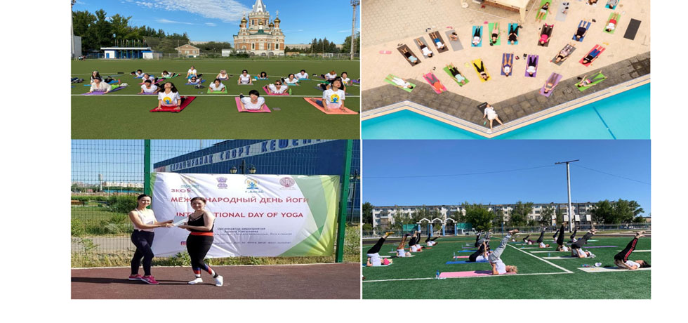 Celebration of International Day of Yoga- 2020  in Kazakhstan