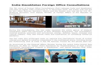 India-Kazakhstan Foreign Office Consultations