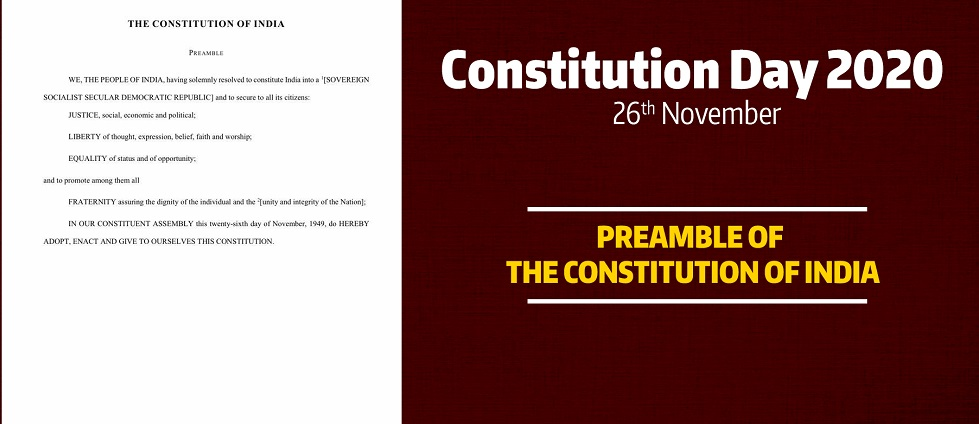 CONSTITUTION DAY OF INDIA, 26 NOVEMBER 2020