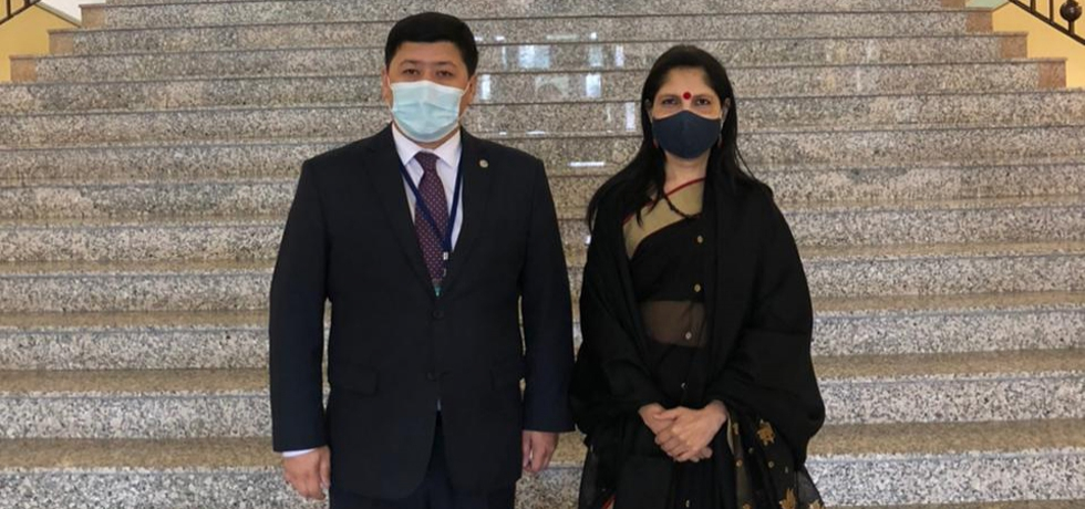 Ambassador Shubhdarshini Tripathi met with Mr. Zhoshykhan Kyraubayev, Director of Asia Pacific region Department, MFA on 24 June 2021 and discussed mutual cooperation in different fields.