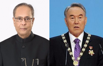 President of India congratulates President Nazarbayev on his re-election