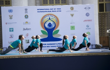 Celebration of International Day of Yoga in Nur-Sultan