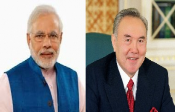 Prime Minister Narendra Modi conveys greetings to President Nursultan Nazarbayev on his 75th birthday