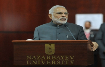 Address by Prime Minister Narendra Modi at Nazarbayev University, Nur-Sultan on July 7, 2015