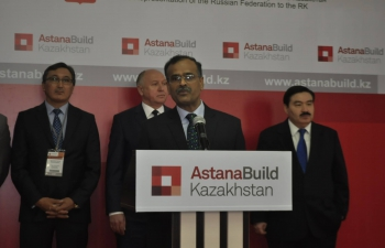 Ambassador Participates in the Inauguration of Nur-Sultan Build-2016