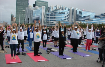 The 2nd International Day of Yoga Celebrated in Kazakhstan