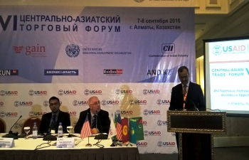 Ambassador Participates in the 6th Central Asian Trade Forum in Almaty