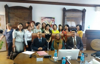 Ms. Ela Gandhi Delivers Lectures at Universities in Nur-Sultan
