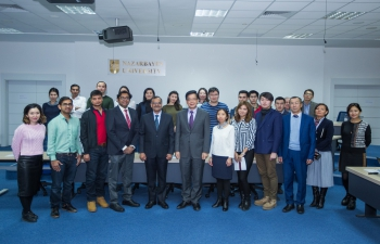 Ambassador Delivers Lecture at Nazarbayev University