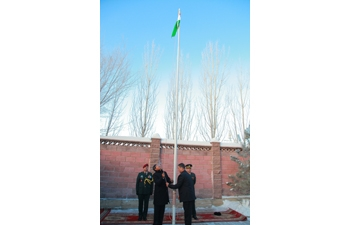 Flag Hoisting Ceremony on the occasion of the 69th Republic Day of India in Astana