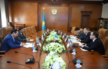 Ambassador Meets Akim of South Kazakhstan Region