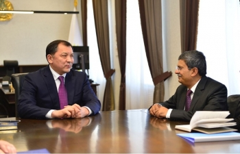 Ambassador Meets Mayor of Atyrau Region