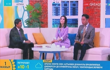 "Ambassador Attends the Live Programme ""Tansholpan"" on the National TV Channel ""Qazaqstan"""
