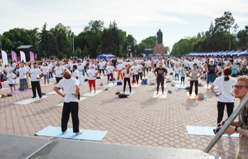 Celebration of the 4th International Day of Yoga in Almaty on 16th June, 2018