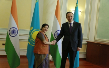 External Affairs Minister Smt. Sushma Swaraj Visits Kazakhstan on August 2-3, 2018