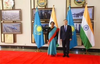 Defence Minister Smt. Nirmala Sitharaman Visits Kazakhstan on October 2-4, 2018.