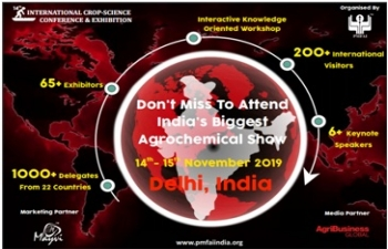 International Crop Science Conference & Exhibition and PMFAI-SML Annual Agchem Awards - November 14 & 15 2019, New Delhi.