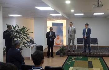 Presentation by Mr.Aslan Kokayev, Director, AIFC and Mr Merey Kuandykov, Senior Manager, AEC, in the Embassy on 18.05.2019
