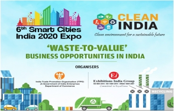Clean India 2020 expo from 20-22 May, 2020, at Pragati Maidan, New Delhi