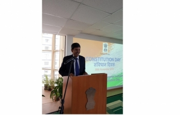 Celebration of Constitution Day in Embassy on 26.11.2019