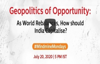 "External Affairs Minister Dr. S. Jaishankar participated in the eleventh edition of 'Mindmine Mondays' - a conversation with Prof C Raja Mohan titled ""Geopolitics of Opportunity: As World Rebalances, How should India Capitalise?"
