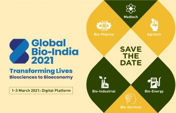 Global Bio India 2021: 1-3 March 2021 on Virtual Platform