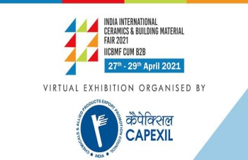 Virtual India International Ceramic & Building Material Fair with B2B (Virtual) during 27th to 29th April 2021